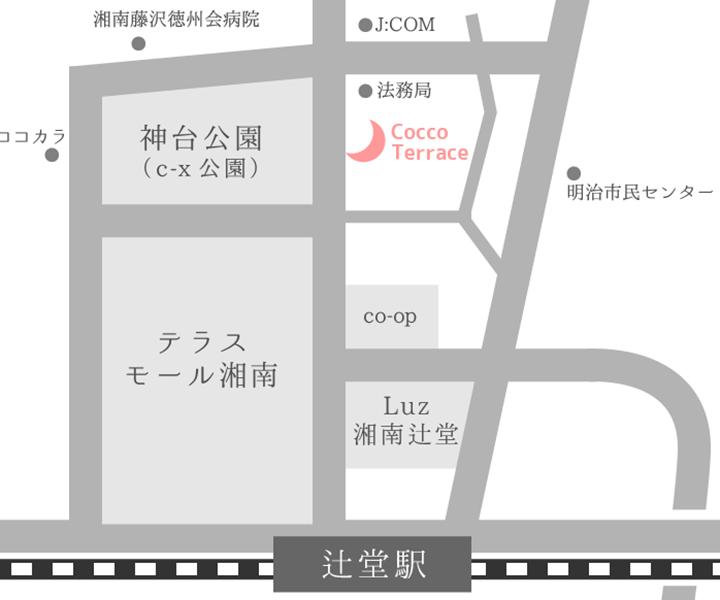 辻堂駅からのMAP